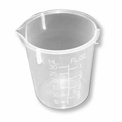 30 mL poly-p Disposable Plastic Beaker