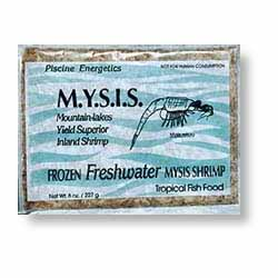 Piscine Frozen PE Mysis Shrimp - 8 oz Flat